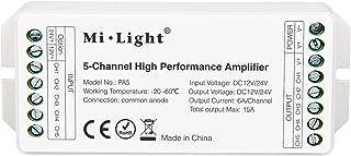 LIGHTEU®, Mi.Light PA5 5-kanals högpresterande förstärkare DC12V-24V Max 15A RGB RGBW RGBCCT LED-förstärkare styrenhet för...