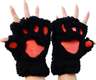 Cat Bear Plush Claw Paw Mitten Soft Winter Gloves Costume