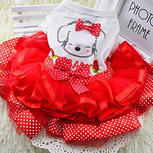 ETbotu Homeware, geschenken voor mannen, vrouwen - Zomer Puppy Pet Hond Kat Kleding Bubble Dress Gauze Rok Kleding Kostuum