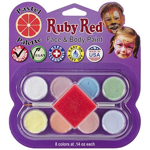 Ruby Red Rouge Rubis Visage kit de Peinture Pastel