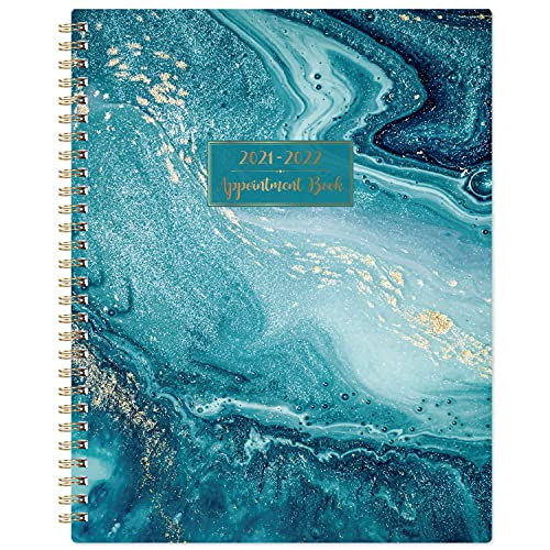 2021-2022 Weekly Appointment Book & Planner - 2021-2022 Daily Hourly Planner with 30-Minute Interval, July 2021 - June 2022, 8' x 10', Twin-Wire Binding, Lay - Flat, Round Corner, Beautiful Waterproof Design