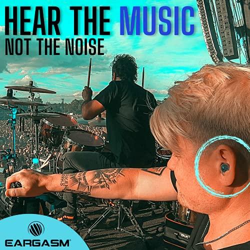 Eargasm - Tapones para los oídos de alta fidelidad para conciertos, músicos, motocicletas, problemas de sensibilidad al ruido, etc.; vienen con una caja de regalo, color azul