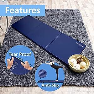 HemingWeigh Exercise Mat, High Density Gym Mat Great for Yoga, Pilates, Aerobics, Martial Arts, 4 Folds, 2 inches, Black