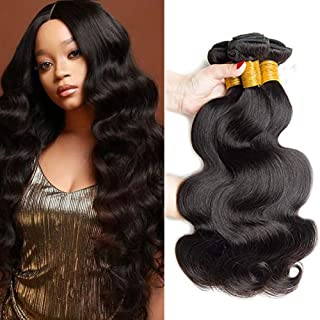SEXAY Brazilian Virgin Hair Body Wave Remy 16 18 20 Inch Human Hair 3 Bundles Weaves 100% Unprocessed Hair Extensions Natural Color
