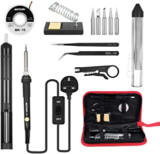 Andoer Meterk 14 in 1 Soldering Iron Kit 60W Adjustable Temperature Welding Soldering Iron with ON/OFF Switch 5pcs Solderi...