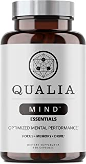 Qualia Mind Essentials Nootropics | The Brain Supplement for Focus, Supporting Memory, Mental Clarity, Energy, Reasoning, ...