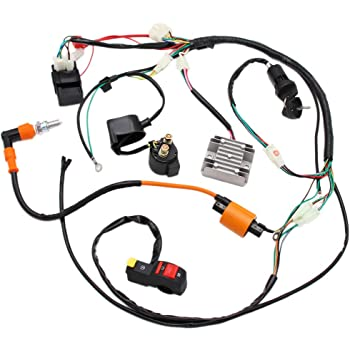 Amazon.com: Full Electrics Wiring Harness Performance Coil CDI 150 200  250cc ATV Quad Bike Buggy Go Kart: AutomotiveAmazon.com
