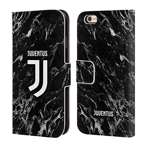 Head Case Designs Licenza Ufficiale Juventus Football Club Nero Marmoreo Cover in Pelle a Portafoglio Compatibile con Apple iPhone 6 / iPhone 6s