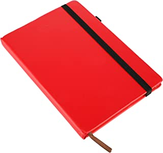 XTREME COLLECTION Red Diary Hard Bound inches Notebook Diary with Elastic Lock PU 224 with 12 Habit Development Pages and ...
