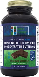 Green Pasture's Blue Ice Royal Butter Oil / Fermented Cod Liver Oil Blend - CHOCOLATE CREAM GEL - 8.1 fl.oz (240ml)