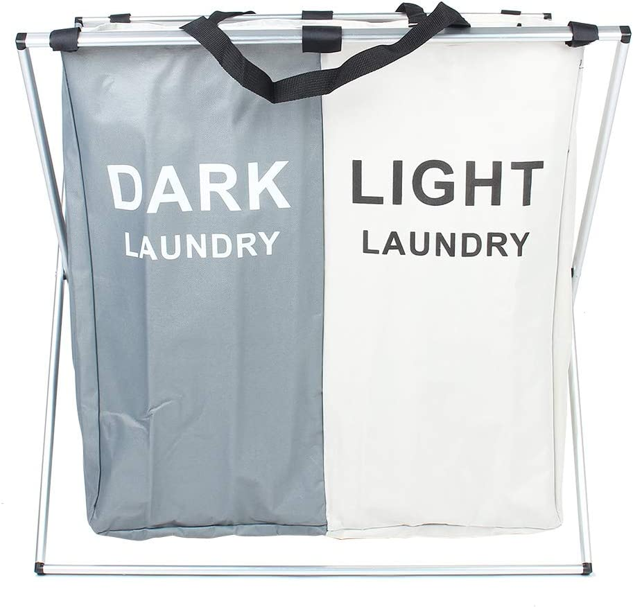 Laundry Basket Two Compartment Clothes Carrying S National Seattle Mall uniform free shipping