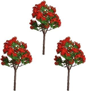 Mxfans 3 x Plastic Flower Tree Micro Landscape Model Decoration AG03-611