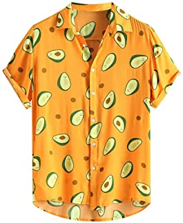 FossenHom Camisas de Hombre de Moda 2020 Camisas Casuales con Cuello Vuelto Estampadas Divertidas - Camisas Hombre Baratas...