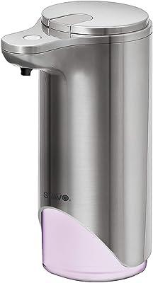 SVAVO 自動泡ソープディスペンサー 0.25秒インファイヤーセンサー タッチレスカウンタートップソープディスペンサー スマートホーム ディスペンサー クリニック 病院 調節可能なフォーム容量 9.5オンス容量 V-370 (ニッケル)