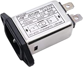 Aodesy EMI 115/250V Socket Panel Mount Power Line EMI Filter JS01-10A-T