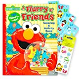 Rudolph the Red Nose Reindeer Toys Sesame Street Elmo Christmas Coloring Book Super Set Kids Toddlers -- Giant 288 Page Holiday Coloring Book and Over 100 Snowman Stickers
