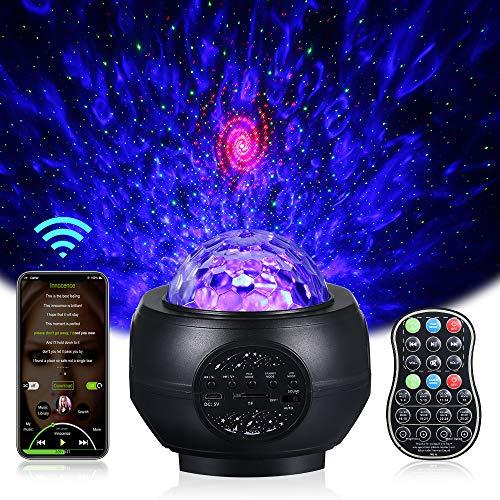 Sternenhimmel Projektor, Infankey Sternenhimmel Lampe mit Fernbedienung, Discokugel 27modi/5Helligkeitsstufen/360°Drehen/Lautsprecher/Timer, Galaxy Light Projector für Party Weihnachten