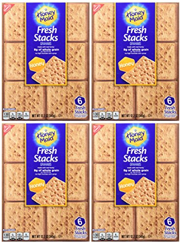 Nabisco, Honey Maid, Fresh Stacks, Honey Graham, 12.2oz Box (Pack of 4)