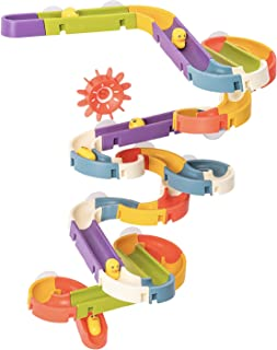 ROBUD Marble Run Set Marble Race Track with Suckers 48pcs Kids Bathtub Toy Bath Toy for Toddlers Boys Girls