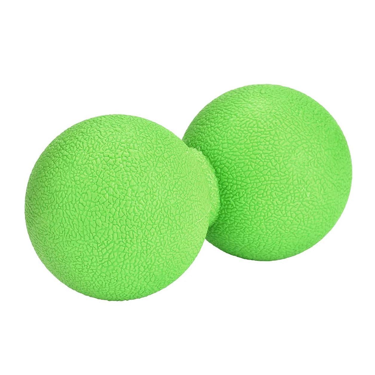 弾性壊す助けてマッサージボール ストレッチボール ピーナッツ型 ヨガボール 首 背中 肩こり 腰 ふくらはぎ 足裏 筋膜リリース トレーニング