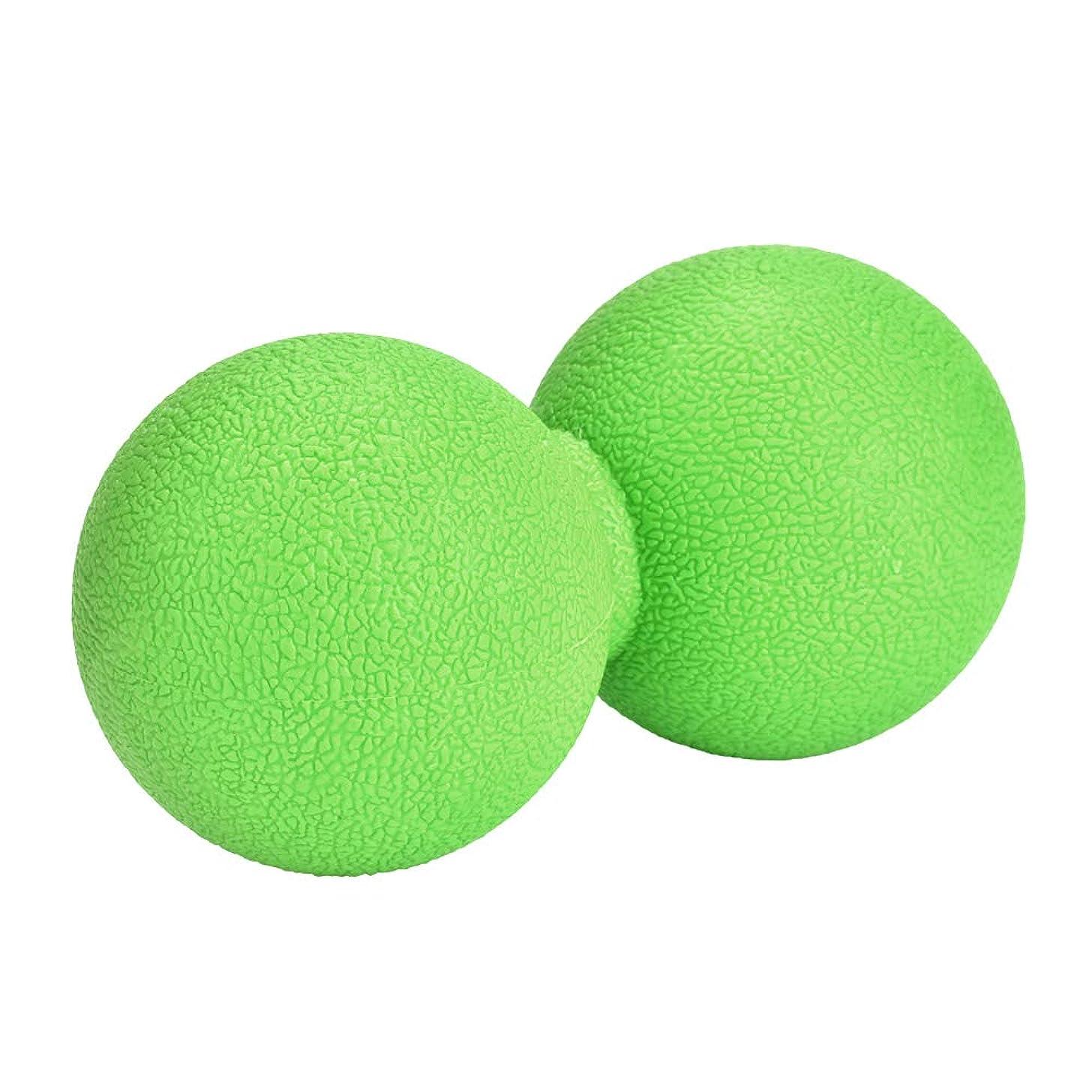 服を片付ける太い歯痛マッサージボール ストレッチボール ピーナッツ型 ヨガボール 首 背中 肩こり 腰 ふくらはぎ 足裏 筋膜リリース トレーニング