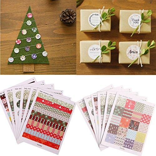 Bazaar 1 jeu d'imprimer des étiquettes floraux autocollants scrapbooking bricolage cadeau de décoration du papier