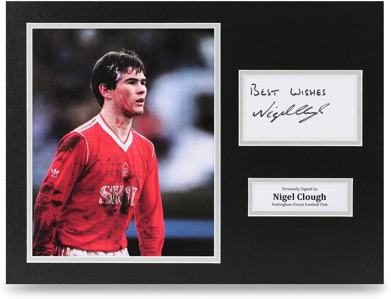 Nigel Clough Signed 16x12 Photo Notts Forest Autograph Display Memorabilia + COA