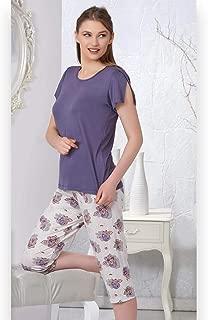 Kısa Kollu Capri Pijama Takım - 96545