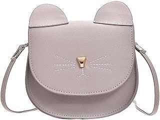 Everpert Pu Leather Cute Women Cat Shape Flap Shoulder Bag Messenger Handbags/Grey