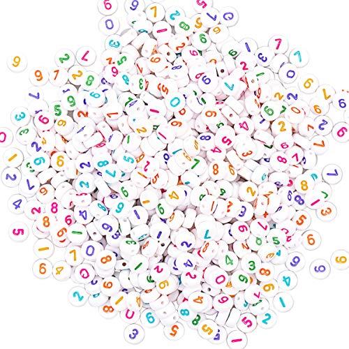 YouFia Zahlenperlen Rund Zahlen Perlen Bead 0-9