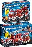 Playmobil® City Action Set en 2 Parties 9463 9464 CONDUCTEUR véhicule Pompier + rüst véhicule de Pompiers