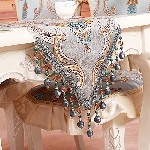 Chemin De Table Européen Tissu Luxe Chemin De Table Table Table Et Anti-dérapant Lit Minimaliste Nappe De Tissu Du Tableau-B 35x180cm(14x71inch)