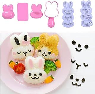 Set Reisball-Formen, klein, Cartoon-Muster, DIY-Sushi-Bento,