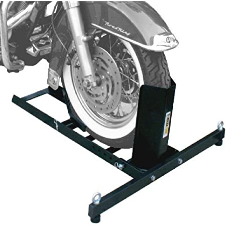 YITAMOTOR Heavy Duty Adjustable Motorcycle Front /& Rear Wheel Chock Stand Fits 14-21 Tires