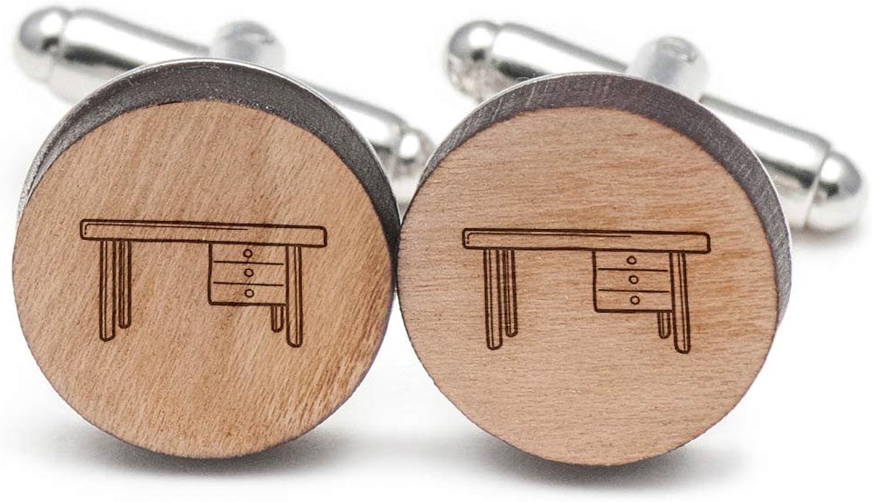 Work Table Cufflinks, Wood Cufflinks Hand Hand Hand Made in the USA 155b97