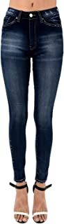 Women's High Rise Light Distressed Skinny Jeans KC7069