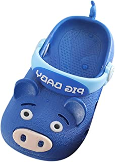 Kiminana Children's Summer Piglet Non-Slip Baby Baby Shoes Back with Baotou Hole Shoes Slippers Pig Baby