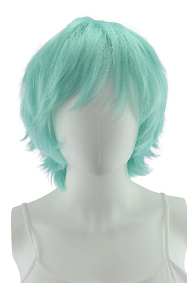 EpicCosplay?Apollo Mint Green Shaggy Wig for Spiking (33MT)