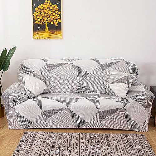 WXQY Funda de sofá de Esquina de Color sólido Funda de sofá Universal para Sala de Estar Funda de sofá elástica para sofá Toalla Funda de sofá de Esquina A3 3 plazas