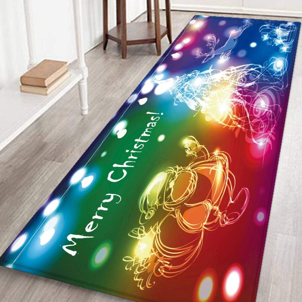 S//M//L//XL,6 Patterns Valcatch Christmas Rug Runner 3D Caroset Carpet Door Mat for Entrance//Living Room//Bedroom//Bathroom Non slip Welcome Entrance Rug