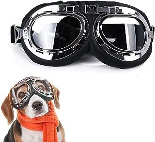 Lifeunion Vintage Steampunk Dog Goggles Adjustable Aviator Pilot Motorcycle Helmet Dog Cat Goggles Sunglasses