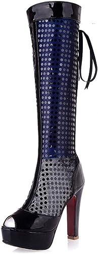AIKAKA Chaussures pour Femmes Sandales d'été Haute Poisson Bouche Bouche Plate-Forme étanche