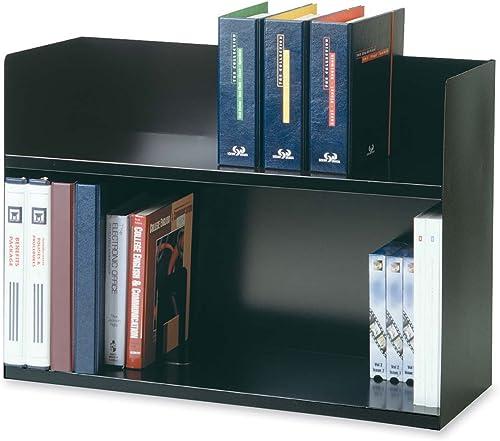 venta de ofertas Two-Tier Book Rack, Steel, 29 1 8 x 10 10 10 3 8 x 20, negro, Sold as 1 Each  barato en alta calidad