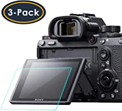 Screen Protector Compatible Sony Alpha a7RIII A7R3 A9 A7II A7RII A7SII A77II A99II RX100 RX100V RX1 RX1R RX10 RX10II Camera, QIBOX Tempered Glass Screen Guard Full Coverage Edge to Edge[3 Pack]