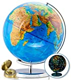 "World Globe with Illuminated Constellations – 13"" Light Up Globe for Kids &..."