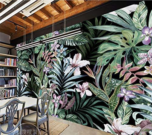 Papier Peint À La Main Forêt Tropicale Tropicale Tropicale Idyllique Laisse Style Asie Du Sud-Est Tv Canapé Fond 3D,430Cmx300Cm