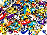 'Playscene' Self Adhesive Craft Stickers, Carnival, Planets, Farm Animals, Princess Themed Stickers (500 Piece Party Packs) (Transportation)