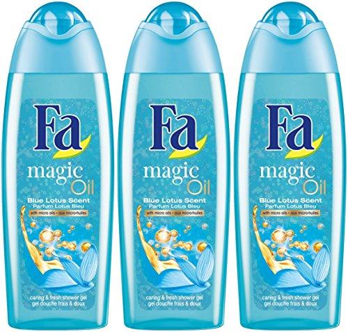 Fa Douche - Gel Douche - Magique Oil Lotus Bleu 250 ml - Lot de 3