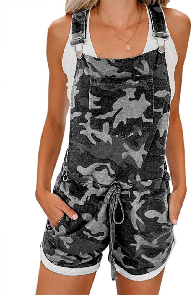 CHIMIKEEY Women's Casual Fall Short Camo Romper Jumpsuit Seasonal Wrap Popular brand in the world Introduction Striped
