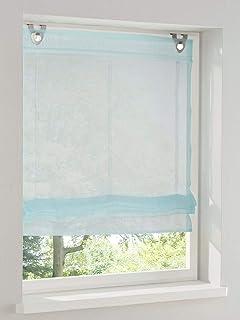 bianco Poliestere BxH 80x140cm per finestra Home U Tenda a pacchetto semitrasparente con pieghe